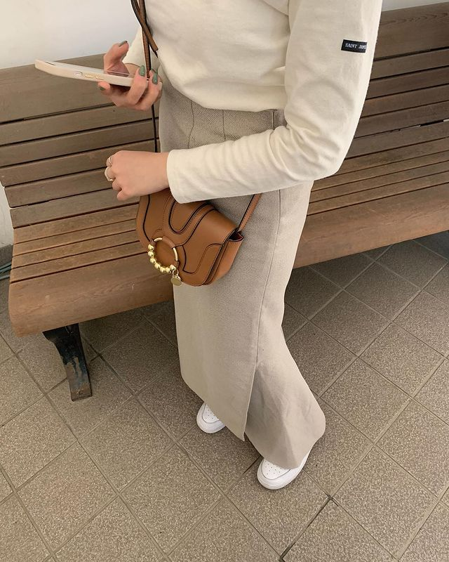 Women wearing See By Chloe bag