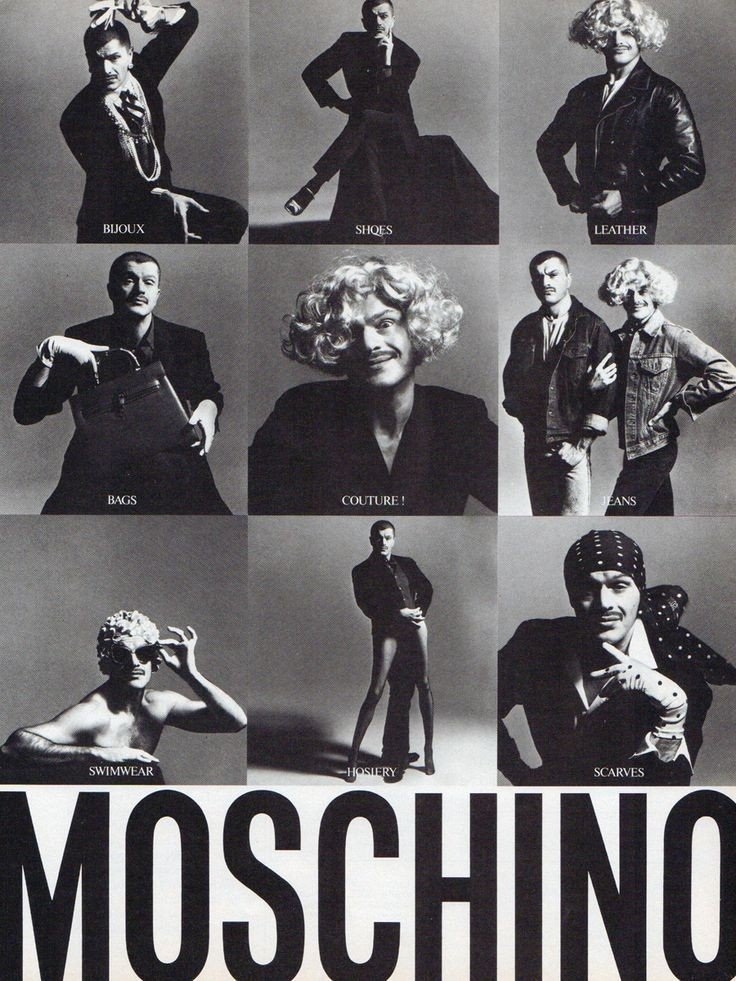 Franco Moschino Front Cover Campaign