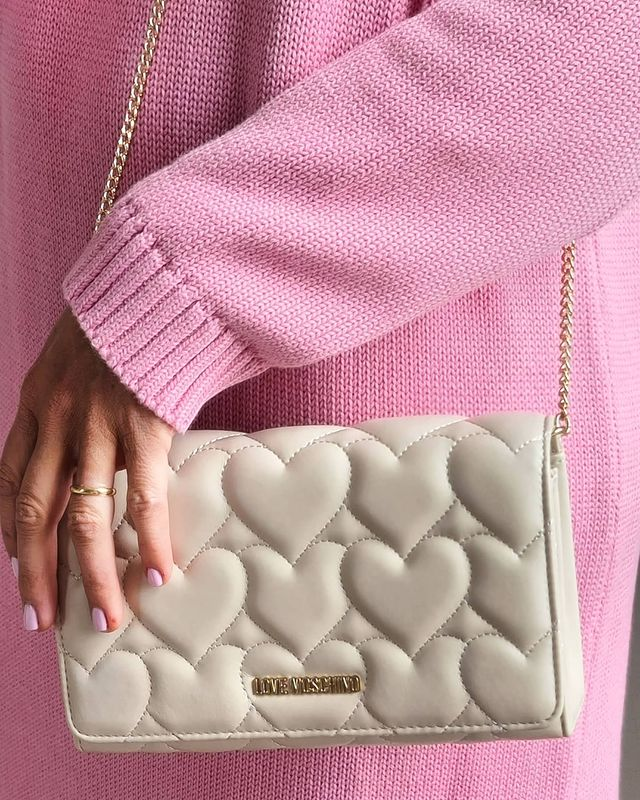 Love Moschino bag with love heart embroidery