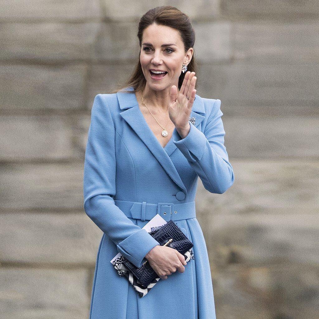 Kate Middleton wearing Strathberry
