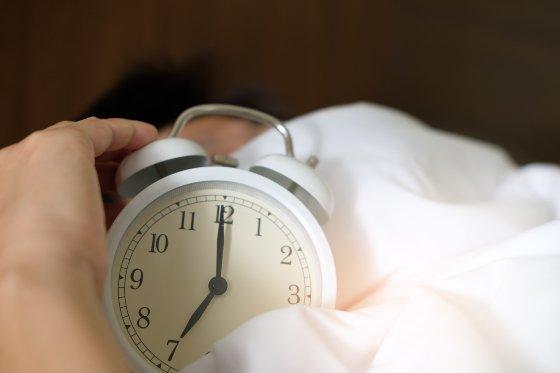 Alarm clock set at 7am