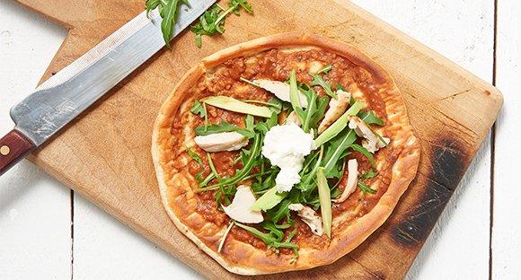 Rucola Hähnchen Pizza