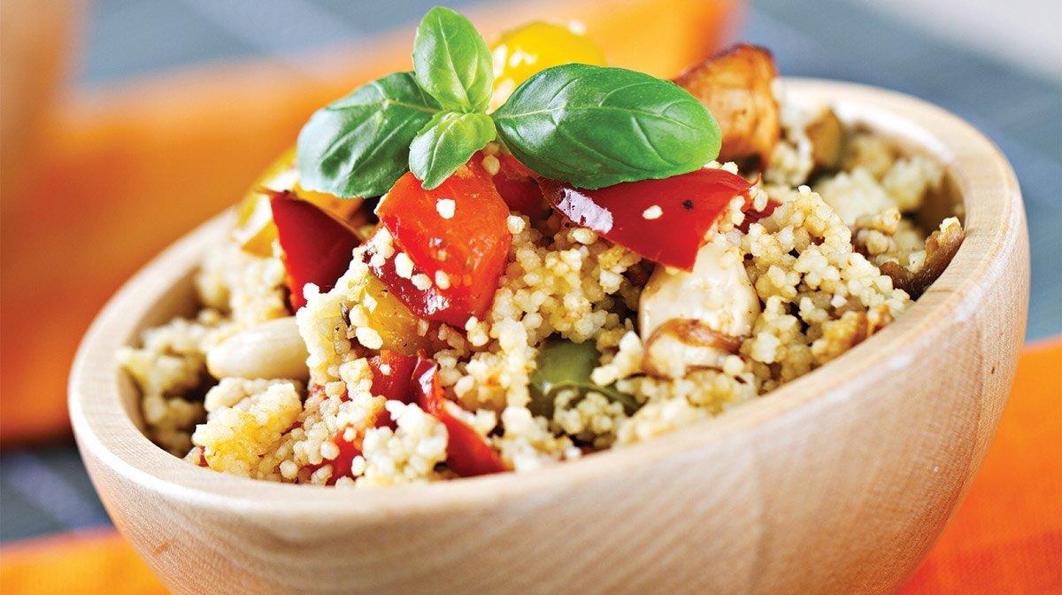 Couscous Salat Mediterraner Stil