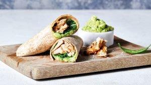 Vollkorn Wraps mit Avocado und Hühnchen