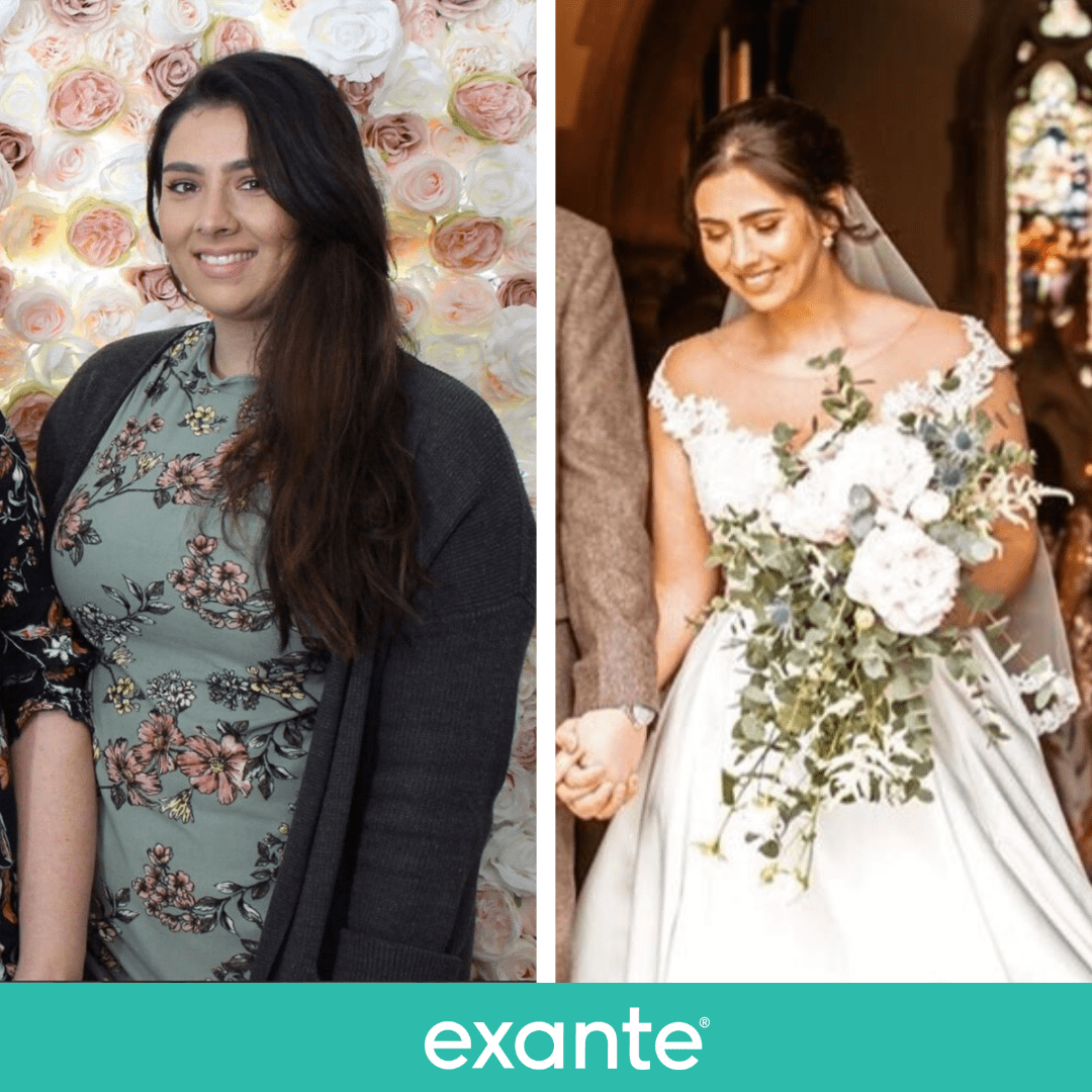Danielle lost 3 stone 11lbs for her wedding