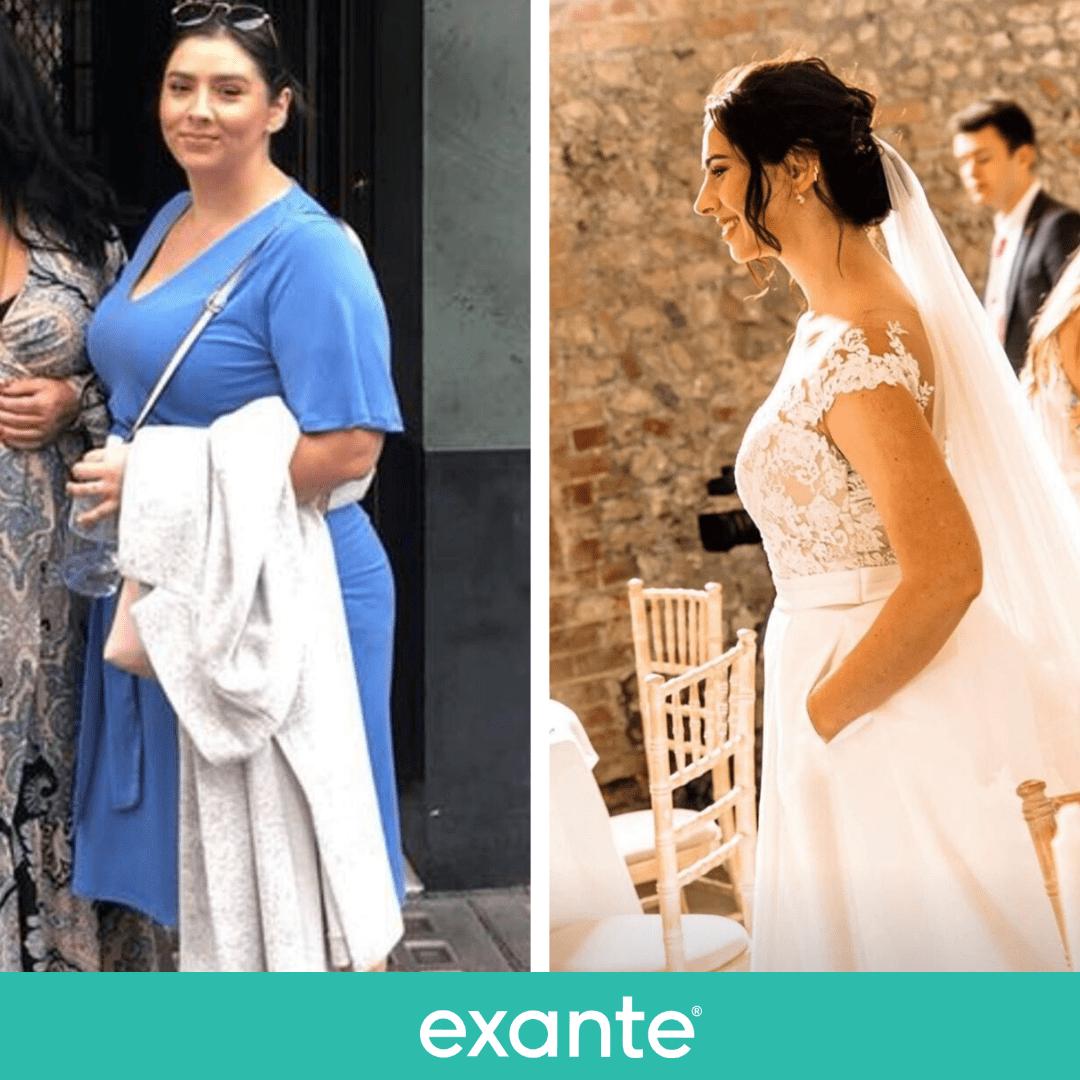 Danielle lost weight following her pre wedding diet plan