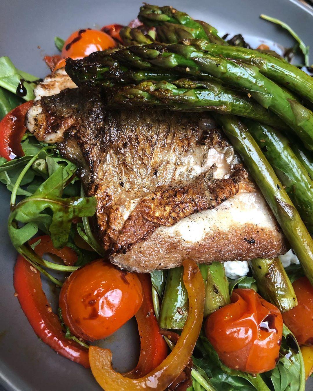 Low Calorie Seabass Salad
