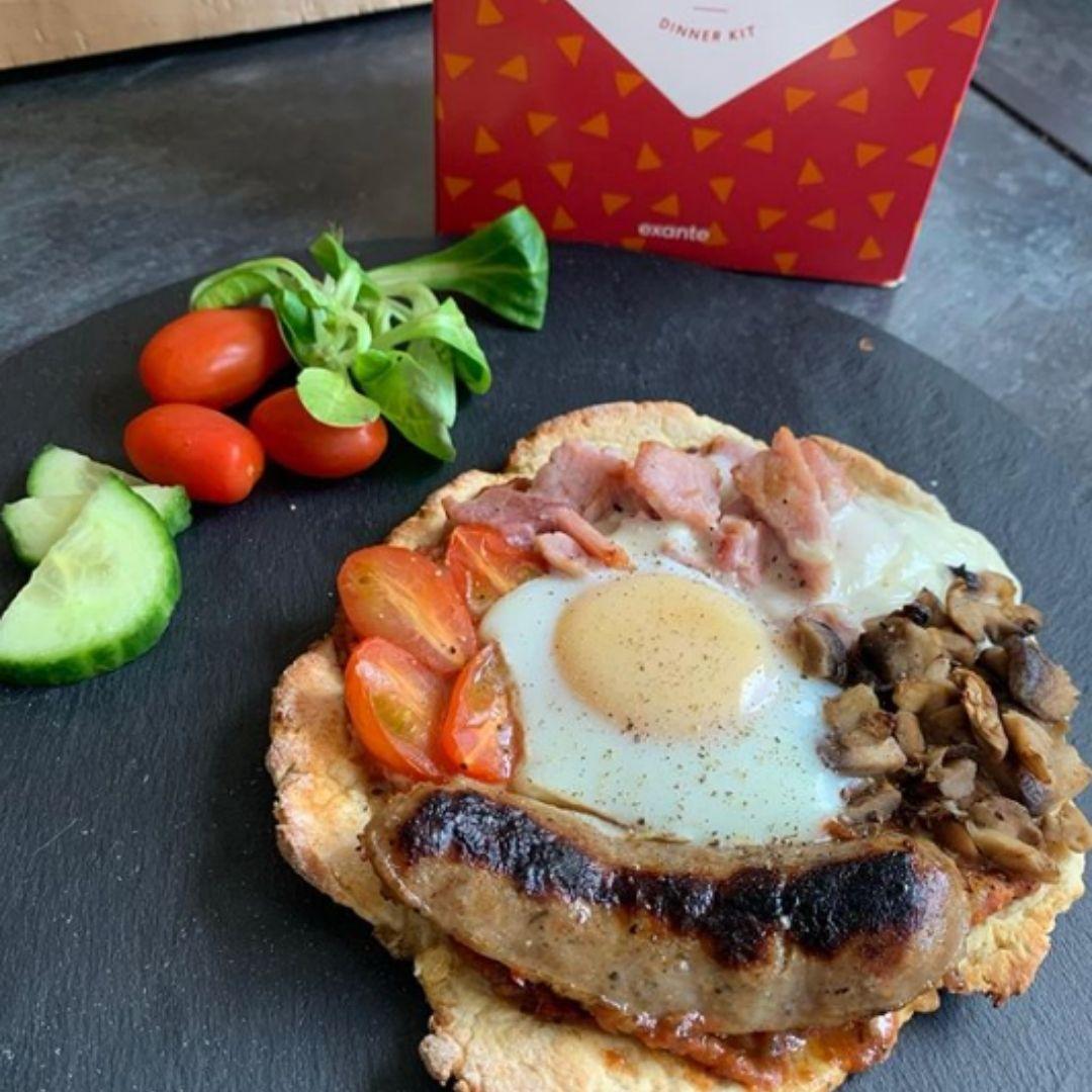 @kates.losing.it Breakfast Pizza using exante Pizza Kit