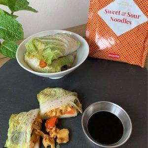 exante Sweet and Sour Noodles Lettuce Wraps