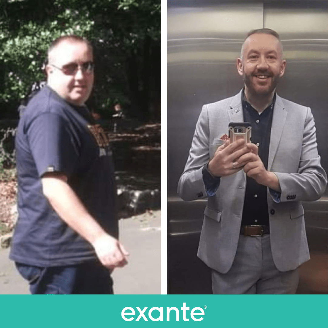 Alex has lost 10 stone using exante shares his daily routine