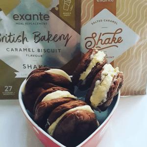 exante Caramel Biscuit Ice Cream Sandwiches