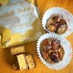 Cupcakes made using the exante Caramel Biscuit Shake