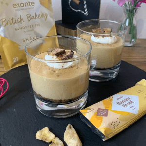 exante Banoffee Pie Meal Replacement Shake Pots