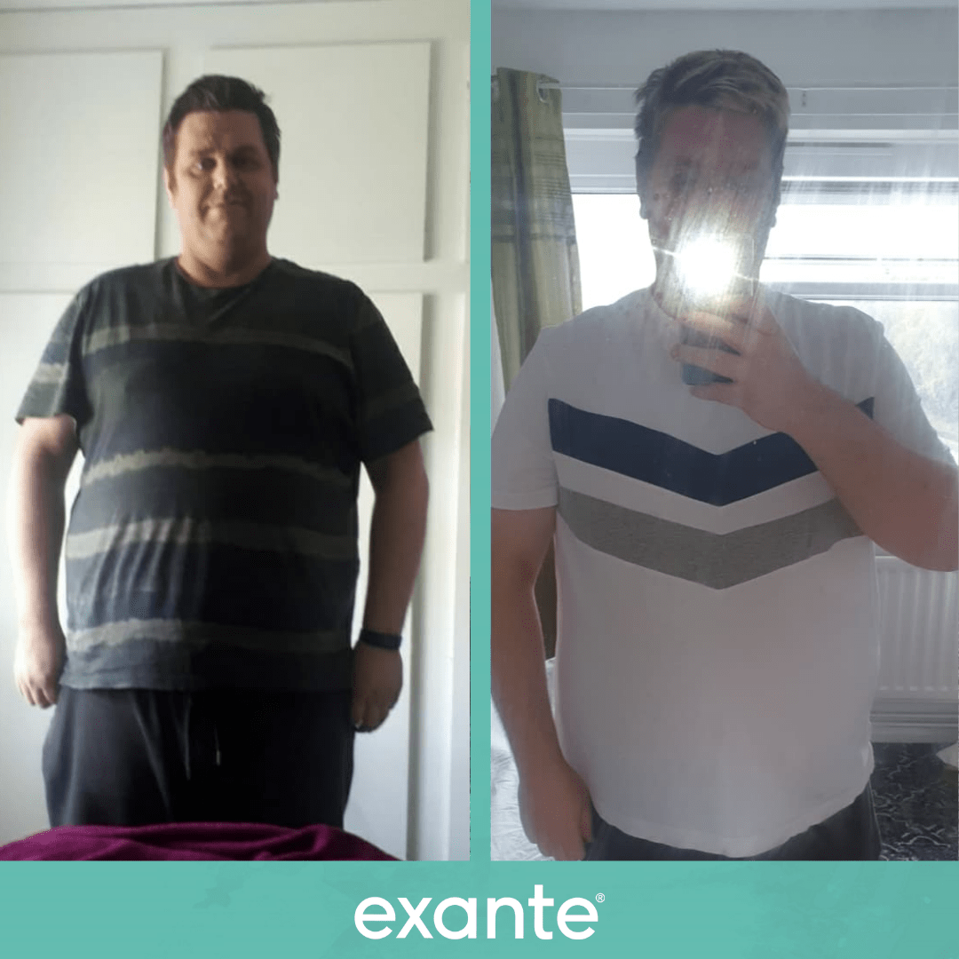 John has lost weight using the exante 800 plan