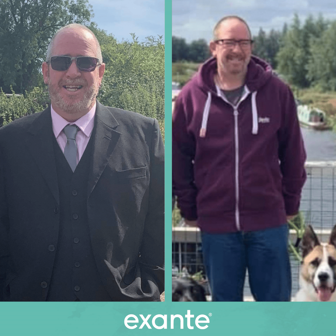 Allan has lost weight using the exante 800 plan.