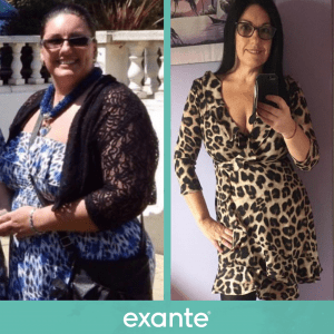 Becky has lost six stone using exante