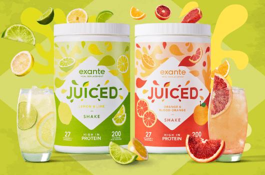 New JUICED citrus flavours lemon lime orange blood orange