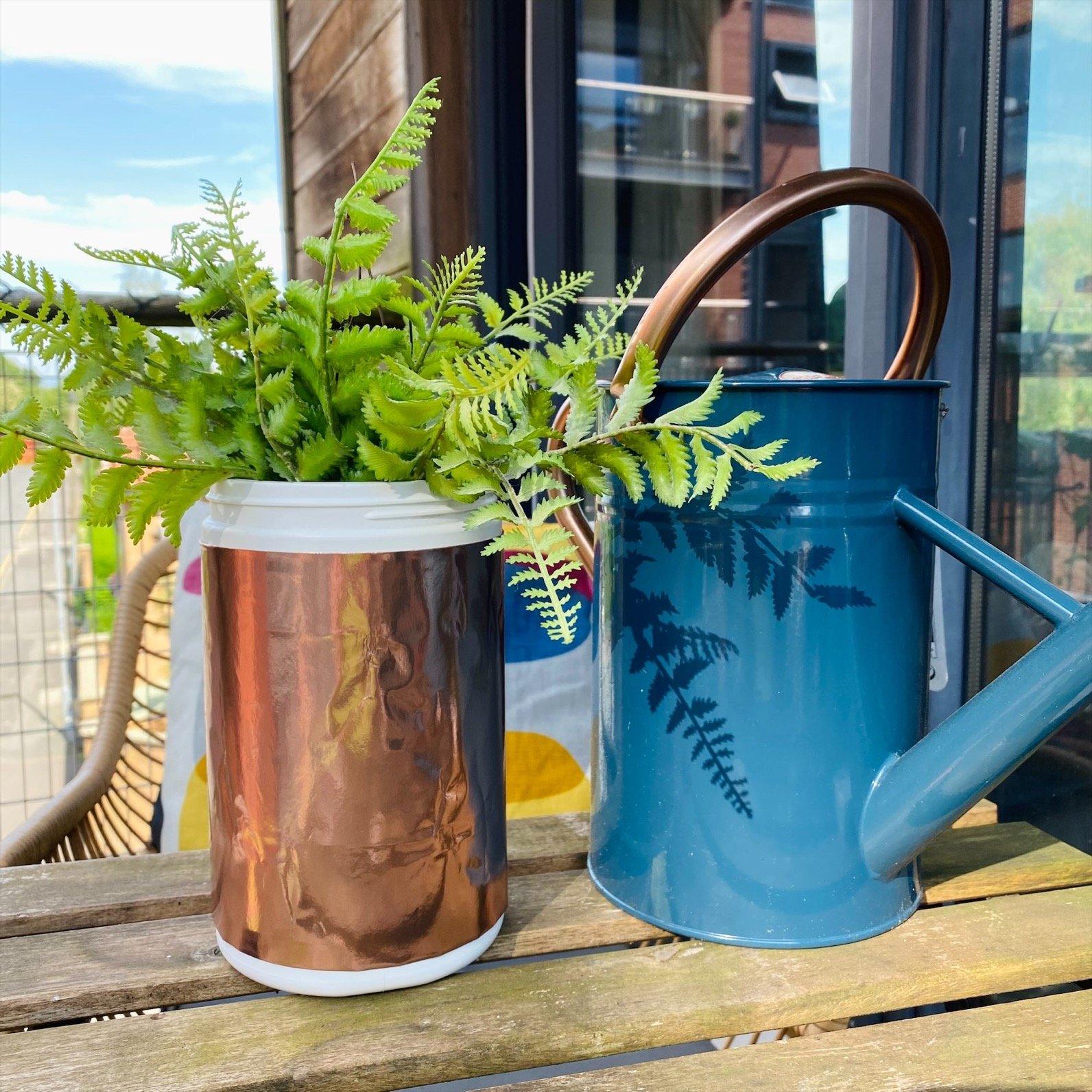 Reuse exante JUICED tub as plant pot