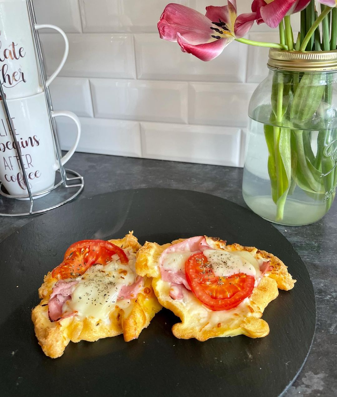 Keto-friendly, low carb cheese on toast