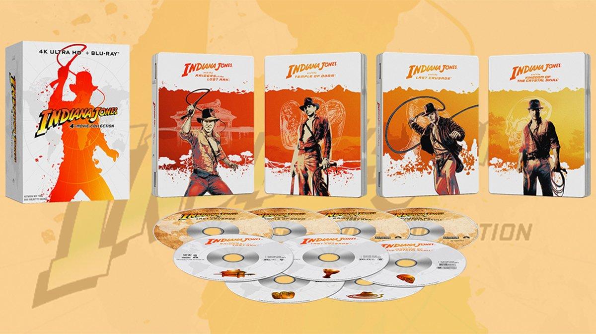 Indiana Jones Films Arrive As 4K Box Set With Zavvi Exclusive Steelbook