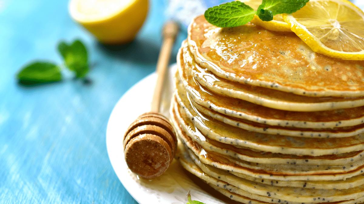 Tortitas de limón y semillas de amapola