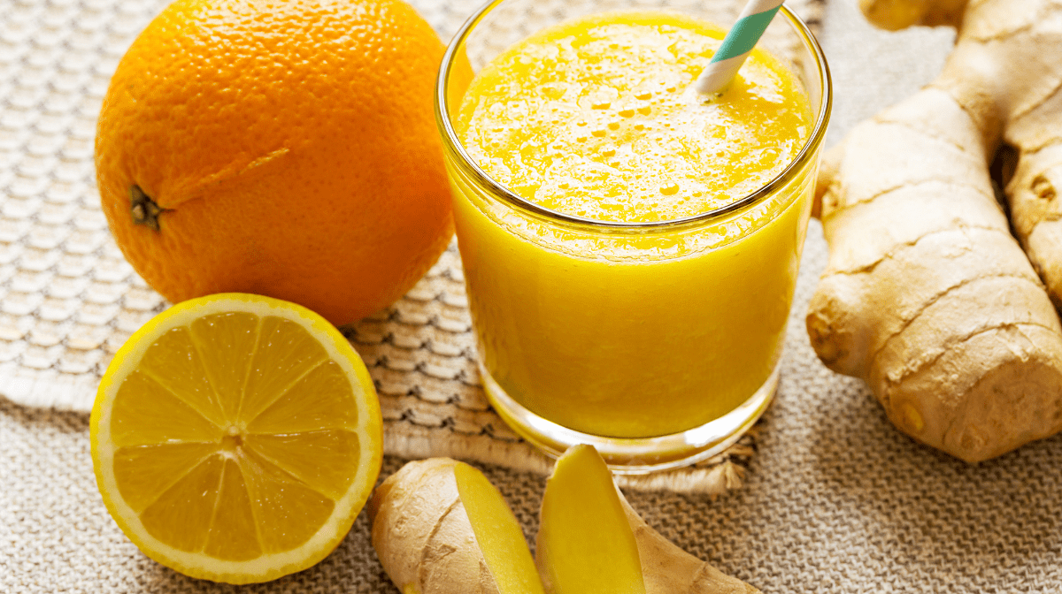 Zumo de Naranja y Jengibre