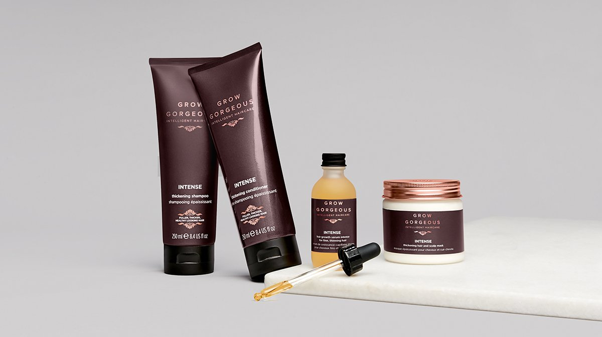 How to thicken thin hair: The Intense Range!
