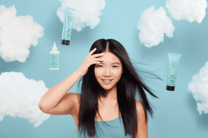 woman with smooth hair with grow gorgeous fermented rice products