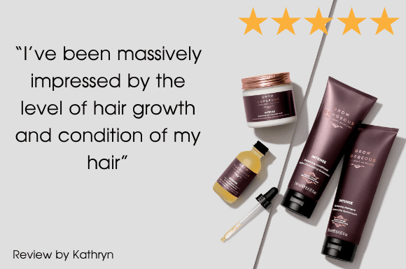 A 5 star review from Kathryn for the Grow Gorgeous Intense Range