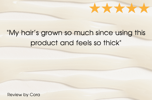 A 5 star review from Kathryn for the Grow Gorgeous Intense Range with text