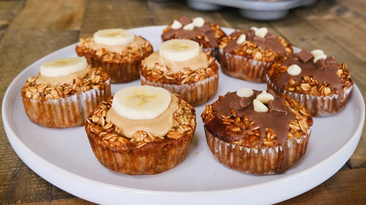 Havregryns cupcakes   Protein morgenmads idé