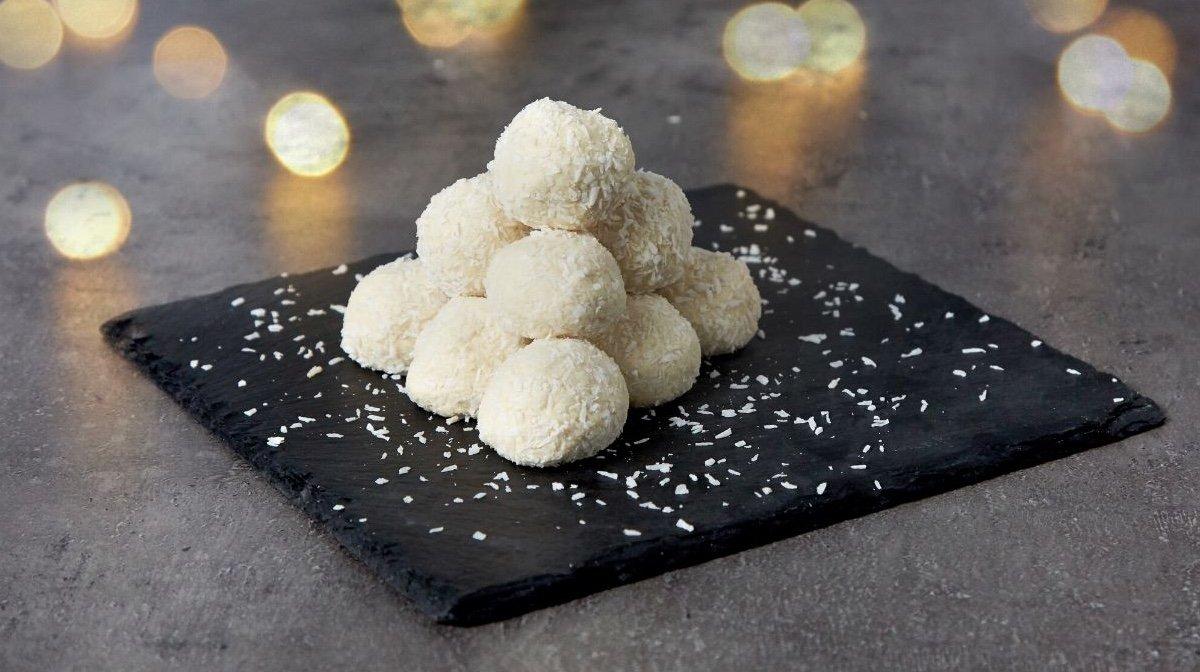 Protein snebolde med hvid chokolade