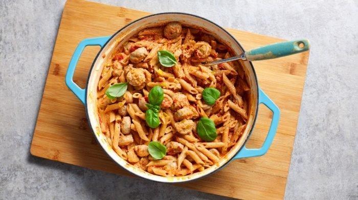 Sund pasta opskrift | Cremet tomatpasta til 4 dages meal prep