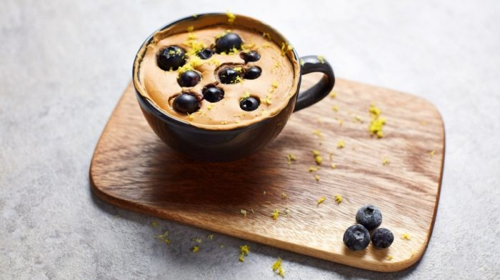 Blueberry mug cake | Vegansk protein opskrift
