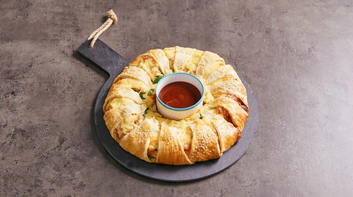Pull apart brød med kalkun & ost