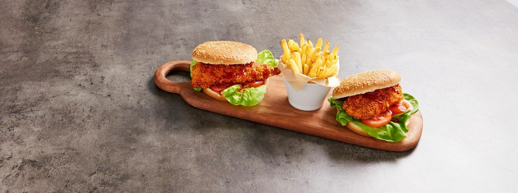 Острый куриный бургер | Ресторанные блюда своими руками