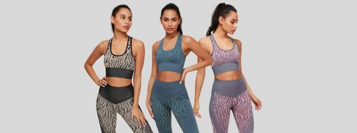 Комплекты женской одежды для спорта I Смелые принты