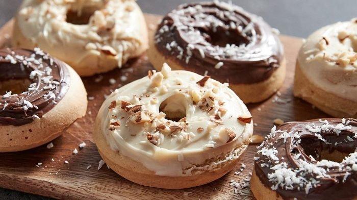 Пончики в духовке I С протеиновым спредом