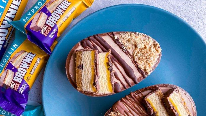 Протеиновый чизкейк из пасхального шоколадного яйца