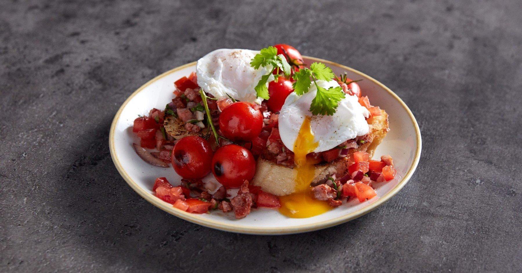 Брускетта на завтрак I Необычное белковое блюдо