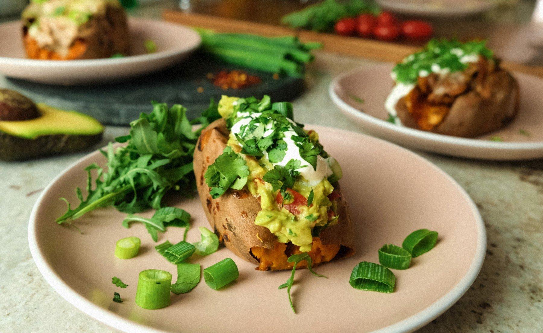 Stuffed Sweet Potatoes 3 Ways | Cupboard Cooking