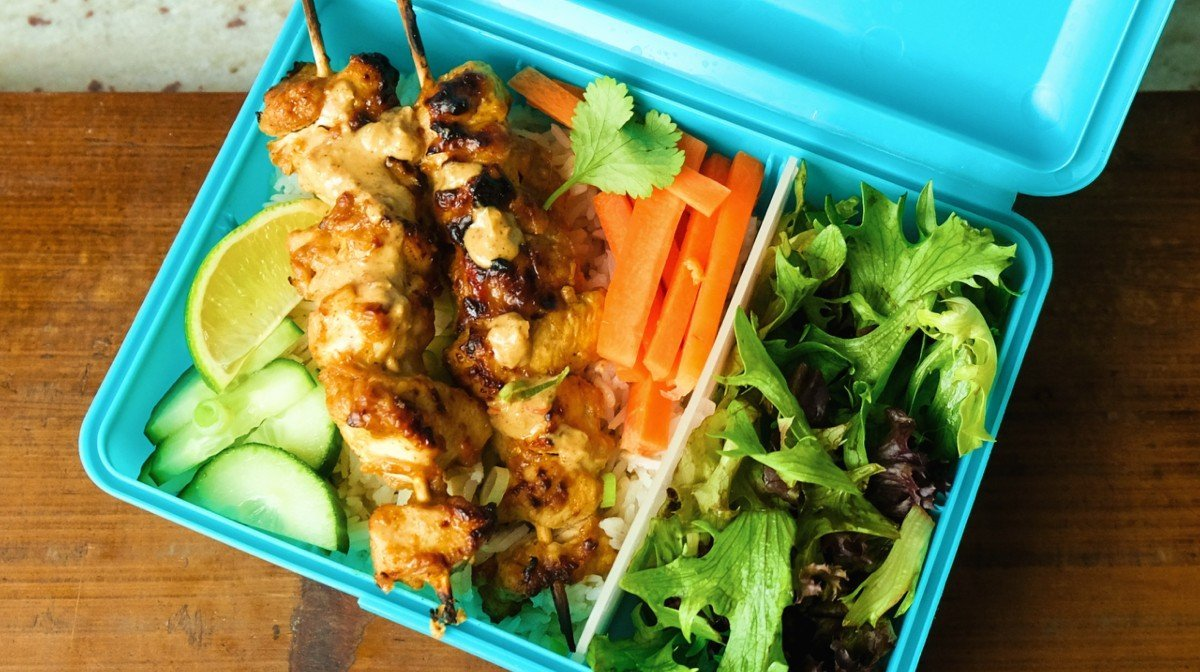 Easy Chicken Satay Meal Prep