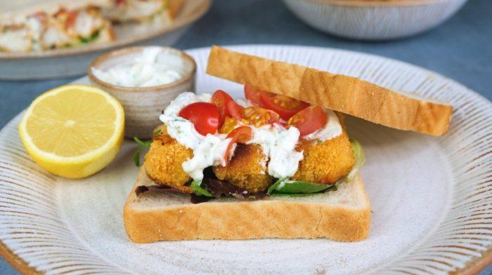 Homemade Fish Finger Sandwich