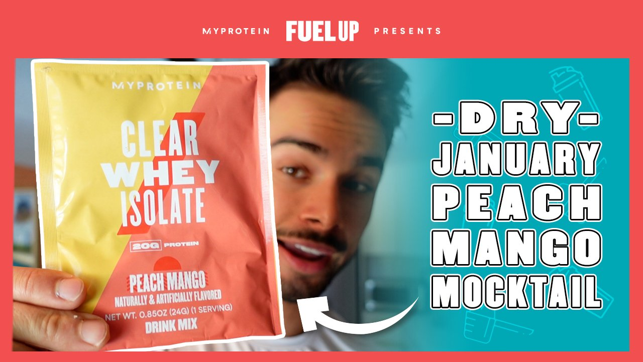 Dry January Peach Mango Mocktail | Jordan Morello's Favorite Protein Shake Recipe
