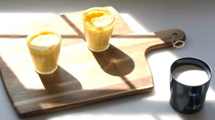 簡単!プロテインと濃厚な豆乳を使ったスフレ焼きプリン!