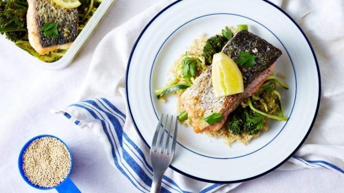 Hrskavi losos s povrćem