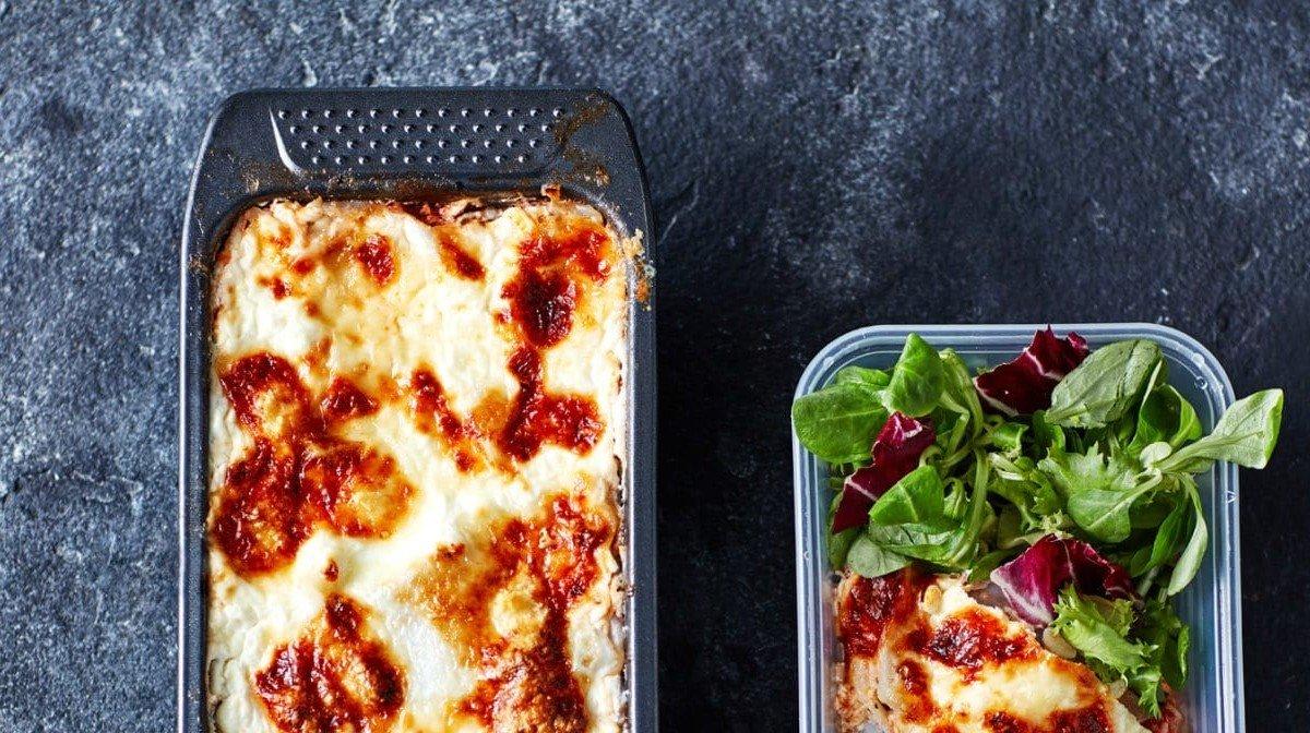 Lasagne leipävuoassa | Proteiinipitoista meal preppausta neljälle päivälle
