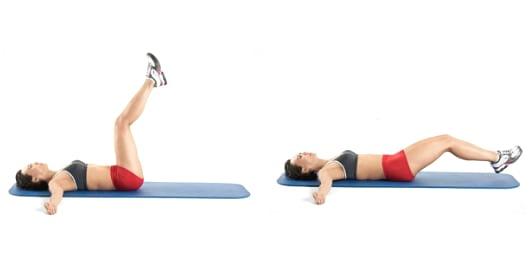 Parhaat vatsalihasliikkeet Miten tehda jalkojen laskeminen