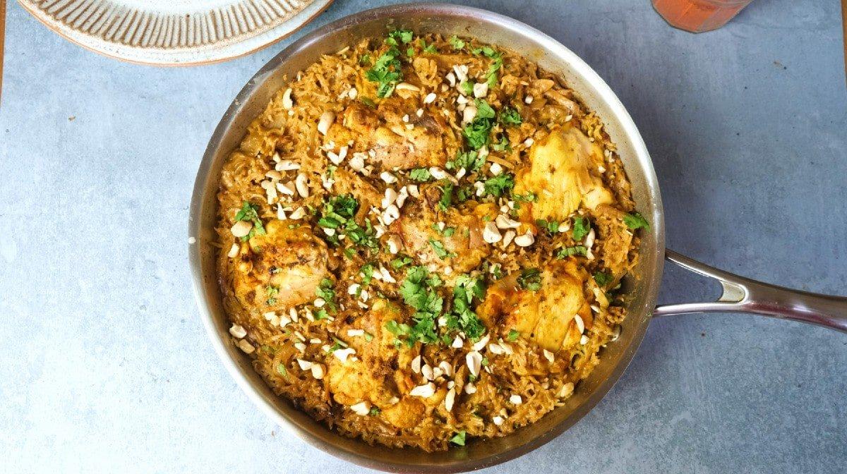 Kookoskana-riisipata meal preppaus