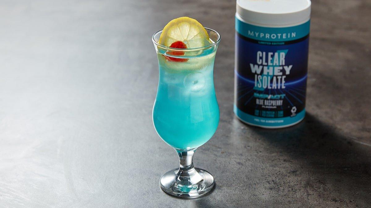 Clear Whey Isolate Blue Raspberry Mocktail